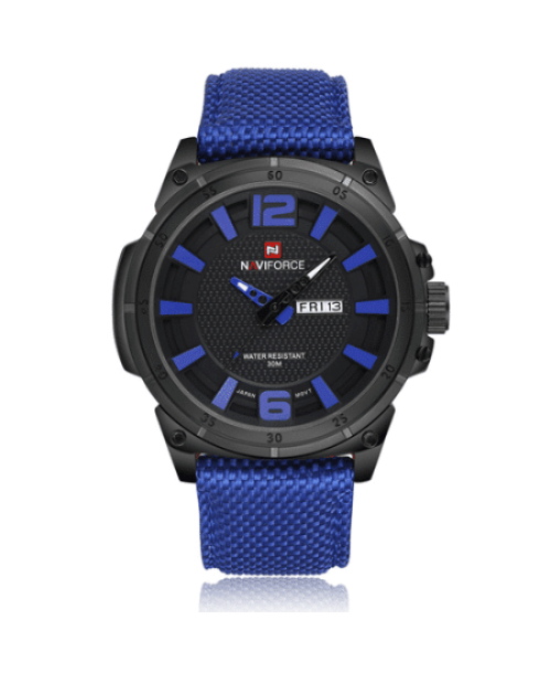 NAVIFORCE 9066 Men Casual Watch Nylon Strap – Blue