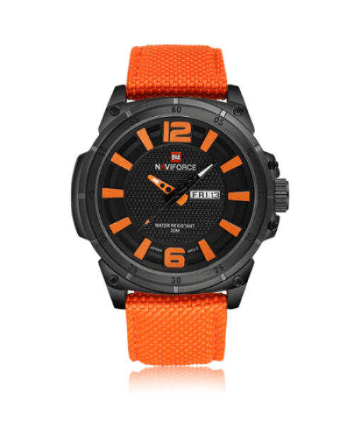 NAVIFORCE 9066 Men Casual Watch Nylon Strap – Orange