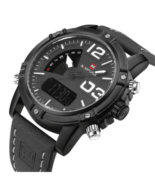 NAVIFORCE 9095 Men Digital Quatrz Watch – Black