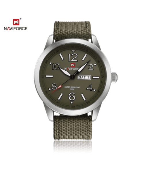 NAVIFORCE 9101 Men Military Nylon Strap Watch – Green