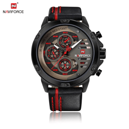 NAVIFORCE 9110  Men Fashion Quatrz Watch – Red