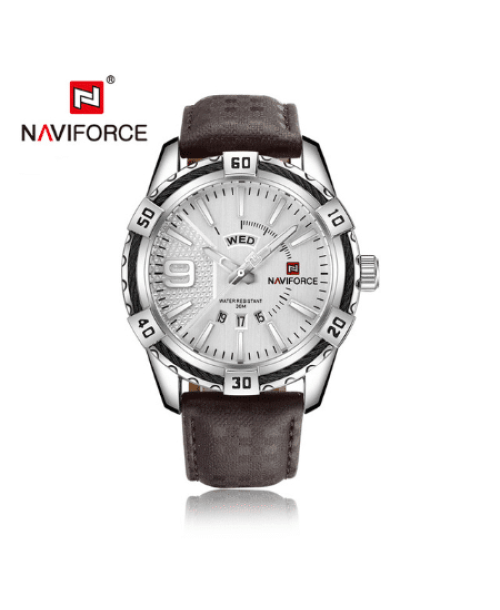 NAVIFORCE 9117  Men Casual Watch – Brown