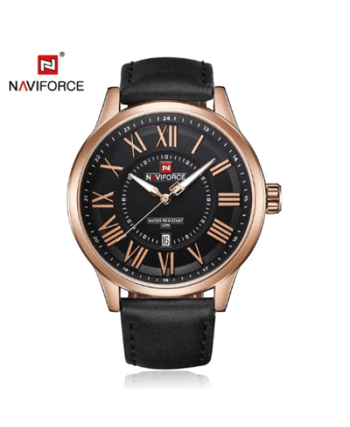 NAVIFORCE 9126  Men Quatrz Date Watches – Black