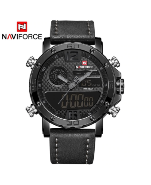 NAVIFORCE 9134 Men  Military Watch – Black