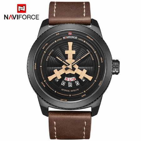 NAVIFORCE 9156  Men Casual Watch – Brown