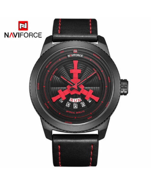 NAVIFORCE 9156  Men Casual Watch – Red