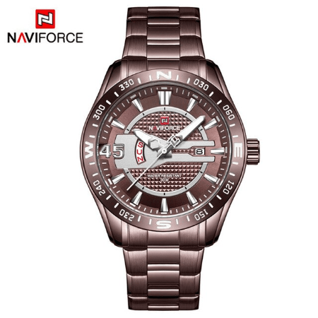 NAVIFORCE 9157  Men Analog Watches – Brown