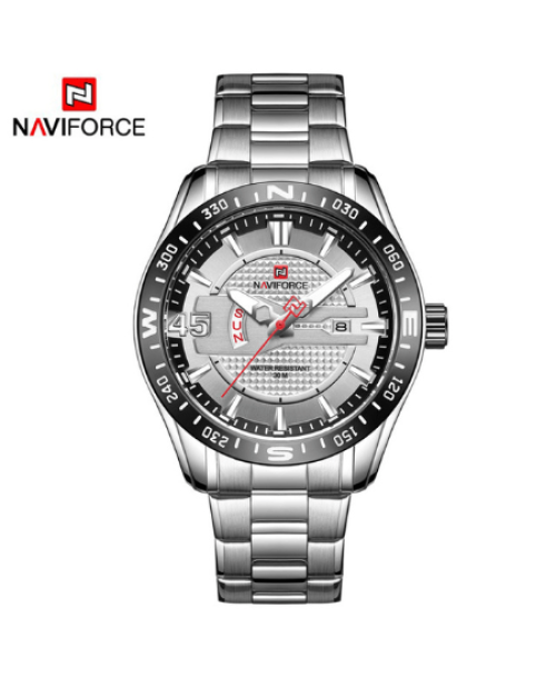 NAVIFORCE 9157  Men Analog Watches – Silver