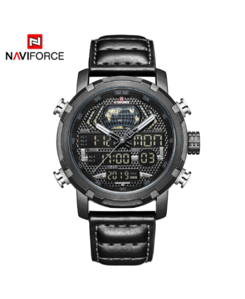 NAVIFORCE 9160 Men Digital Quatrz Watch – Black