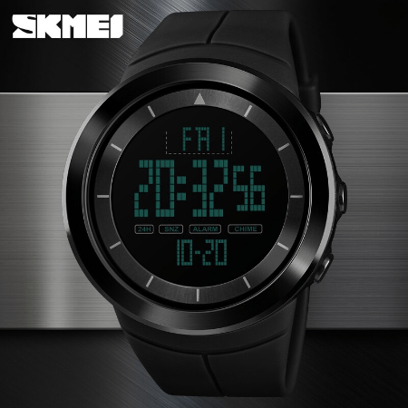 SHMEI 1402 Men Sports Digital Watch – Black