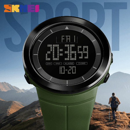 SHMEI 1402 Men Sports Digital Watch – Green
