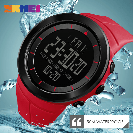 SHMEI 1402 Men Sports Digital Watch – Red
