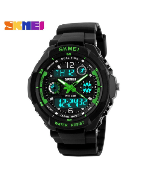 SKMEI 0931 Anti Shock 5Bar Waterproof Watches – Green