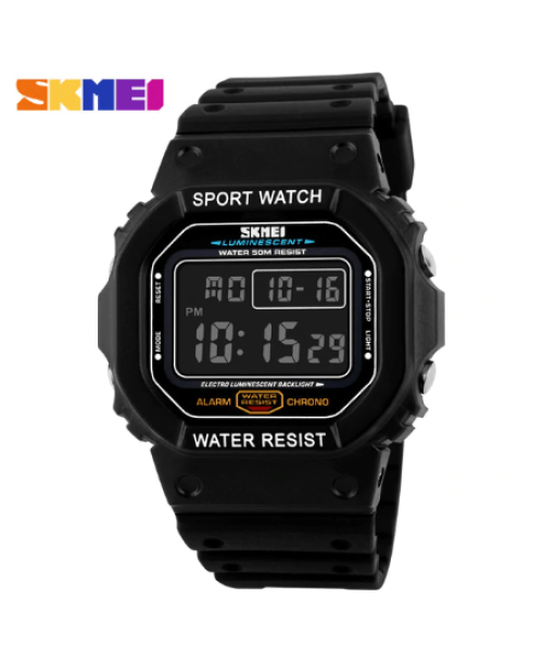 SKMEI 1134 Men  Military LED Digital Watch  50M – Black