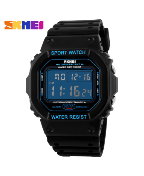 SKMEI 1134 Men  Military LED Digital Watch  50M – Blue