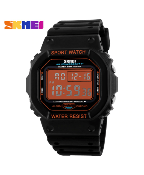 SKMEI 1134 Men  Military LED Digital Watch  50M – Orange