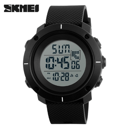 SKMEI 1215 Military Digital Watch – Black