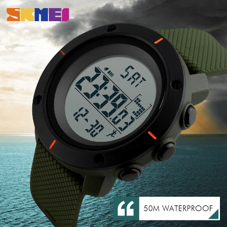 SKMEI 1213 Military Digital Watch – Green