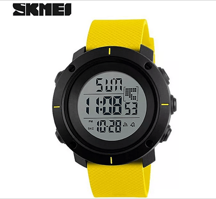 SKMEI 1212 Men Digital Militry Watch – Yellow