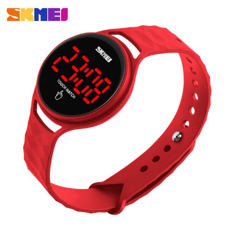 SKMEI 1230 Ladies Simple Touch Watch – Red