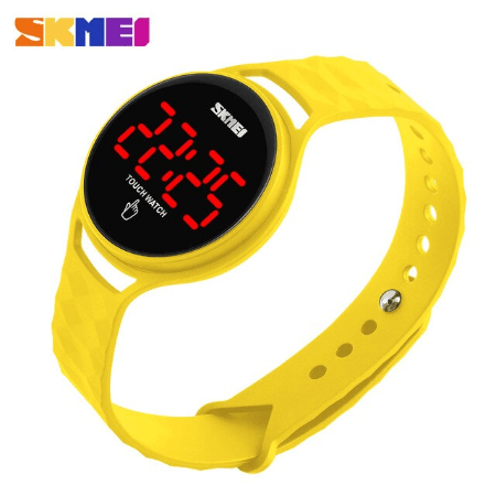 SKMEI 1230 Ladies Simple Touch Watch – Yellow