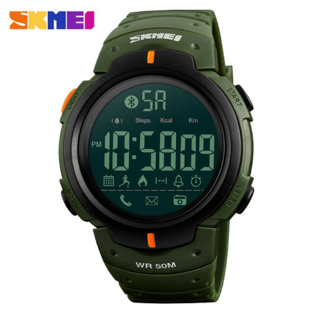 SKMEI 1231 Men LED Water Shock Proof Watch – Green
