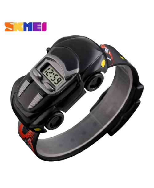 SKMEI 1241 Kids Cartoon Car Watch – Black