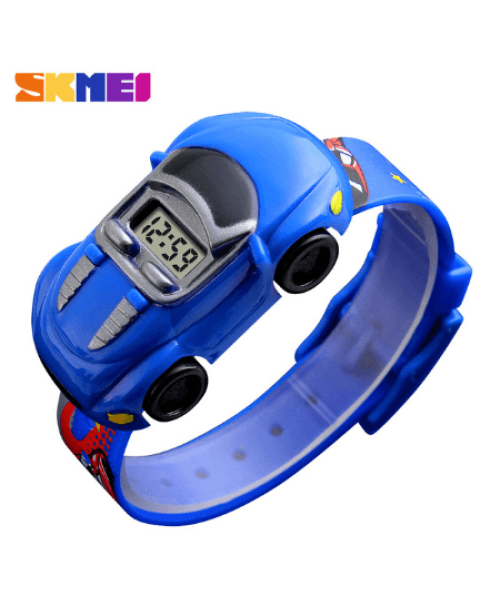 SKMEI 1241 Kids Cartoon Car Watch – Dark Blue