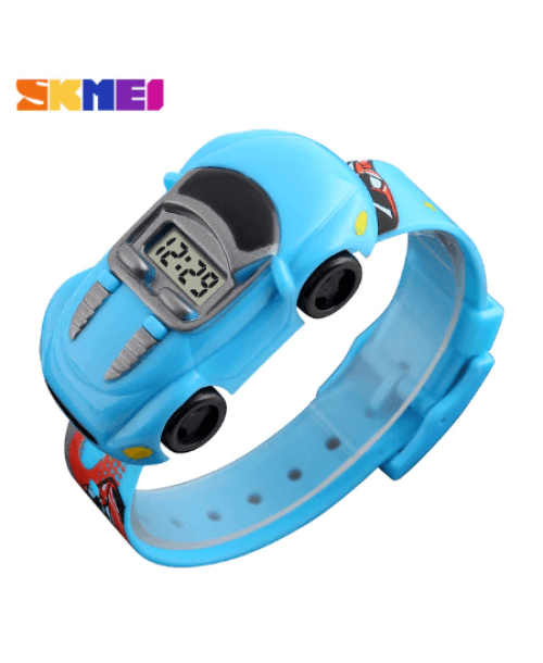 SKMEI 1241 Kids Cartoon Car Watch – Light Blue