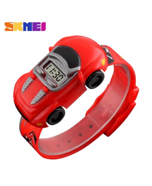 SKMEI 1241 Kids Cartoon Car Watch – Red