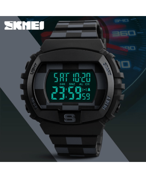 SKMEI 1304 Fashion Multifunction Sports Digital Watches – Black