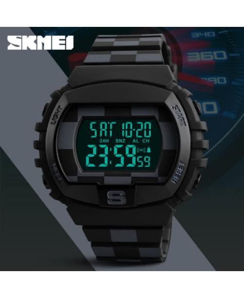 SKMEI 1304 Fashion Multifunction Sports Digital Watches – Black