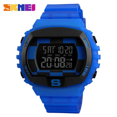 SKMEI 1304 Fashion Multifunction Sports Digital Watches – Blue