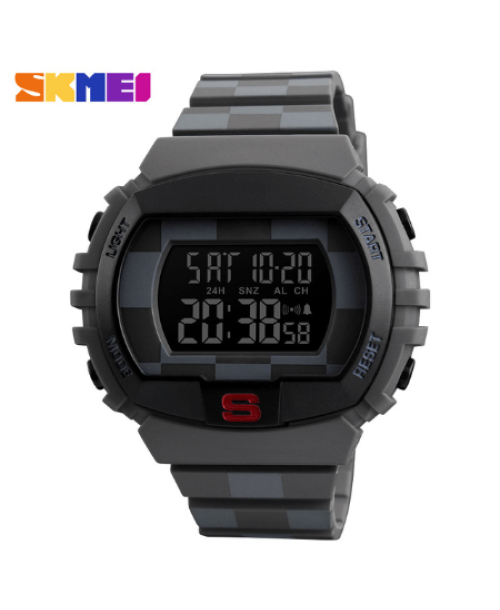 SKMEI 1304 Fashion Multifunction Sports Digital Watches – Grey