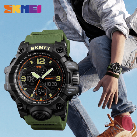 SKMEI 1327 Outddoor Digital Watch – Green