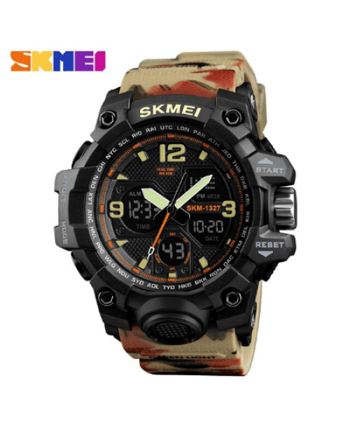 SKMEI 1327 Outddoor Digital Watch – Khaki
