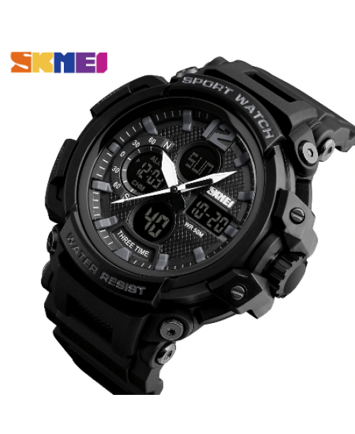 SKMEI 1343 Men Outdoor Watch – Black