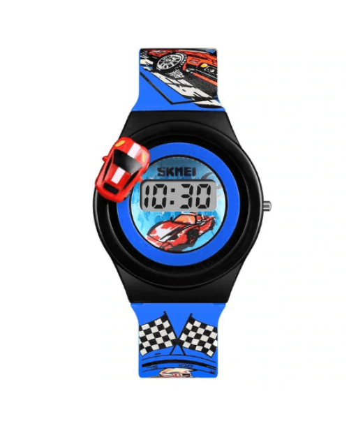 SKMEI 1376 Kids Watches Cartoon Car Digital – Blue