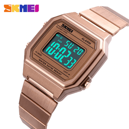 SKMEI 1377 Women Digital Watches – Rose Gold