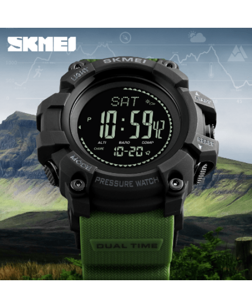 SKMEI 1384 Men Sports Digital Watch  Waterproof – Green