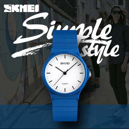 SKMEI 1419 Women Simple Casual Quatrz Watch – Blue