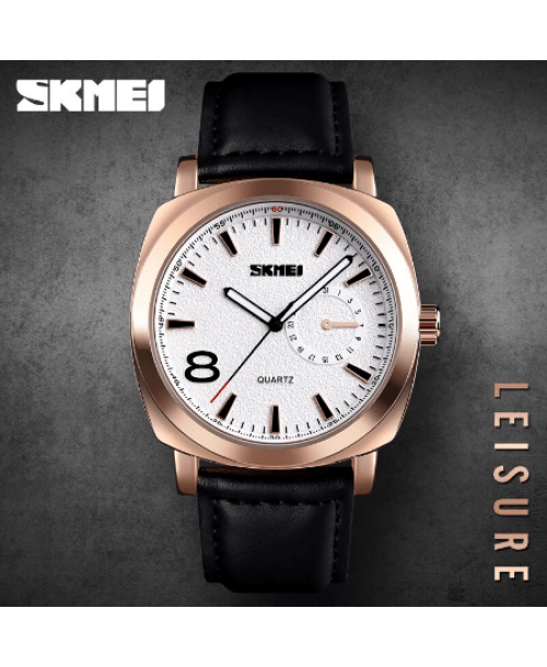 SKMEI 1466 Men Luxury Quartz Watch – Black