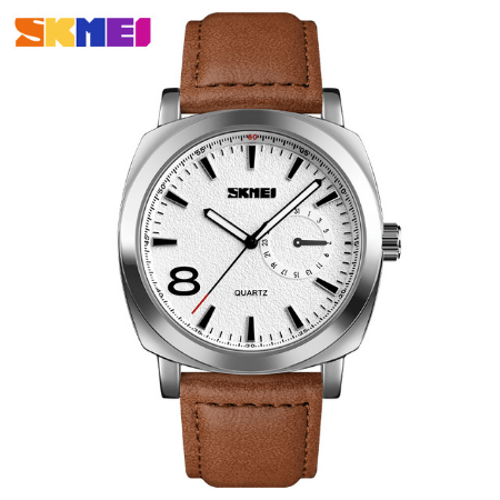 SKMEI 1466 Men Quartz Watch – Brown