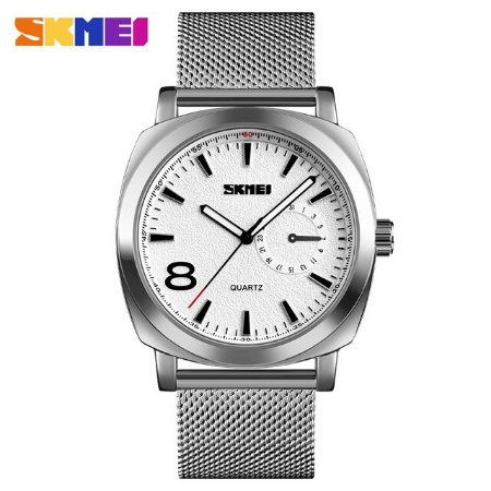 SKMEI 1466 Men Luxury Quartz Watch – Silver