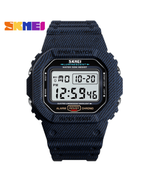 SKMEI 1471 Men Fashion LED Digital Watch 50M – Denim Blue