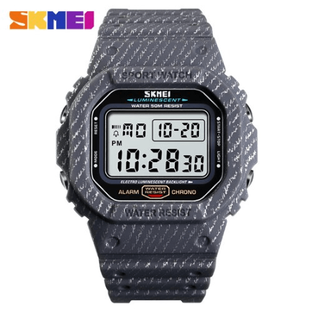 SKMEI 1471 Men Fashion LED Digital Watch 50M – Grey