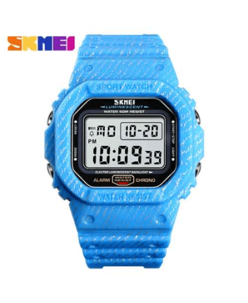 SKMEI 1471 Men Fashion LED Digital Watch 50M – Light Blue
