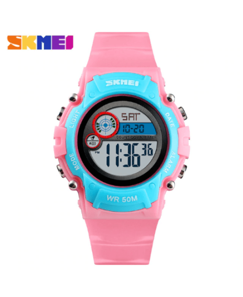 SKMEI 1477 Kids Sports Digital Watch – Pink