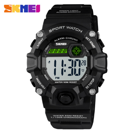 SKMEI 1484 Kids Brand Casual Digital  Waterproof Watches – Black