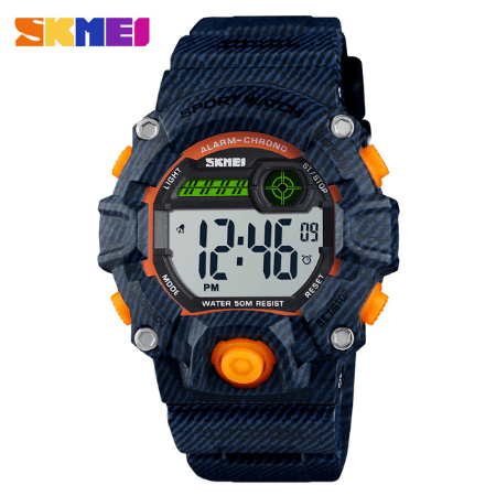 SKMEI 1484 Kids Brand Casual Digital  Waterproof Watches – Denim Blue
